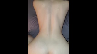 Tight chinese pussy makes roommate pull out multiple times